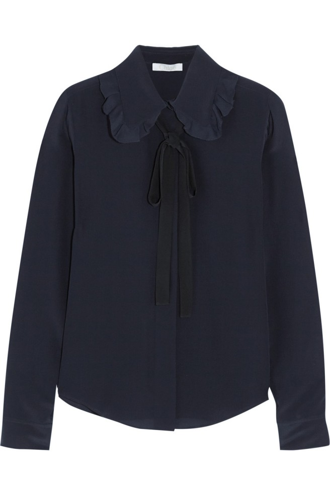 pussy bow blouse