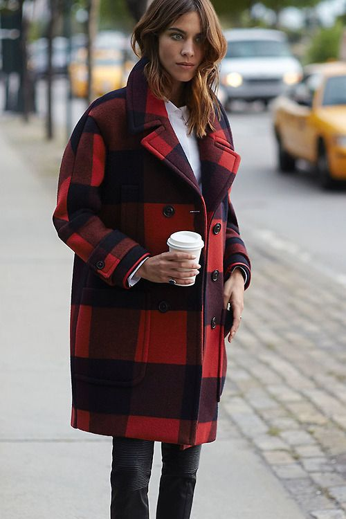 fashion fall tartan coat outfit style
