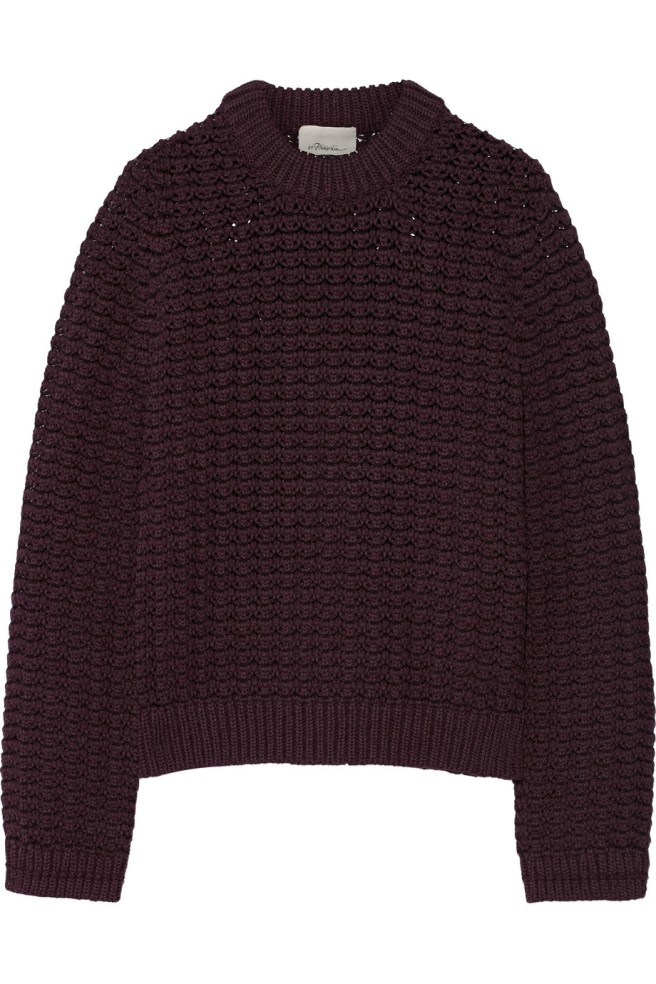 fall sweater plum