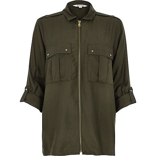 river island khaki fall winter autumn fashion