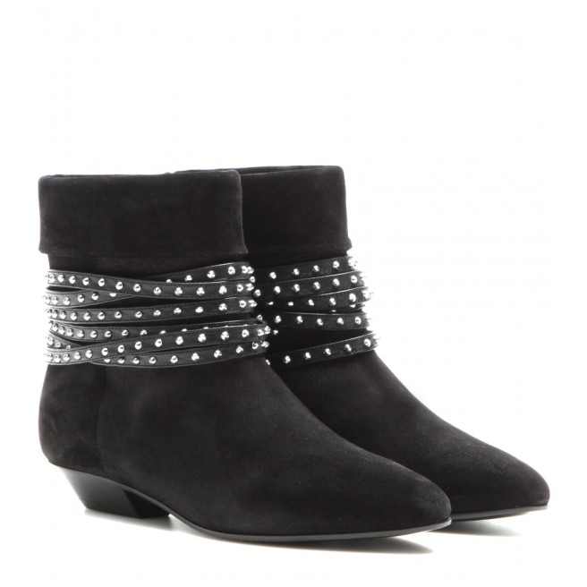 Saint Laurent Embellished Ankle Boots