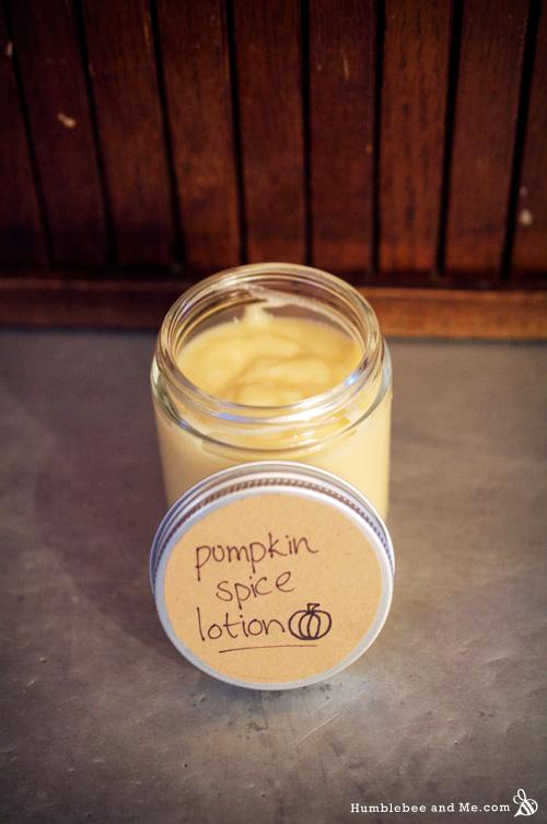 DIY Pumpkin Spice Lotion